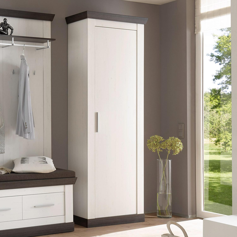 stauraumschrank tiena schrank garderobe in pinie wei und wenge haptik ebay. Black Bedroom Furniture Sets. Home Design Ideas