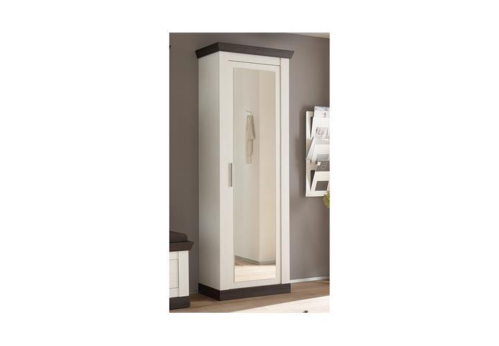 schrank tiena stauraumschrank garderobe mit spiegel in. Black Bedroom Furniture Sets. Home Design Ideas