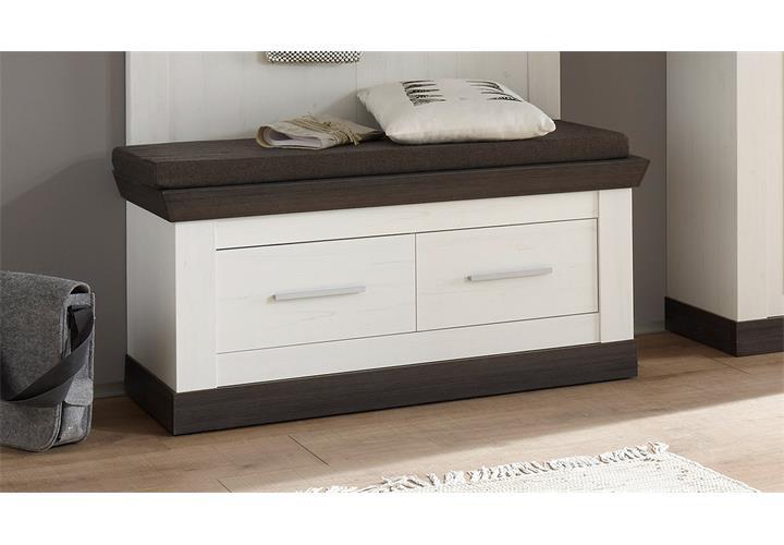 garderobenset tiena 1 schrank bank paneel in pinie wei wenge haptik ebay. Black Bedroom Furniture Sets. Home Design Ideas