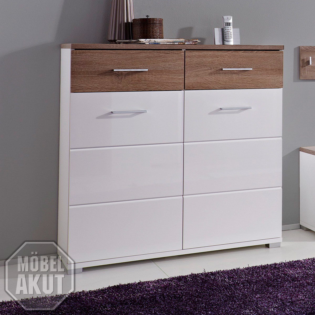 schuhschrank malo garderobe in weiss hochglanz sonoma. Black Bedroom Furniture Sets. Home Design Ideas