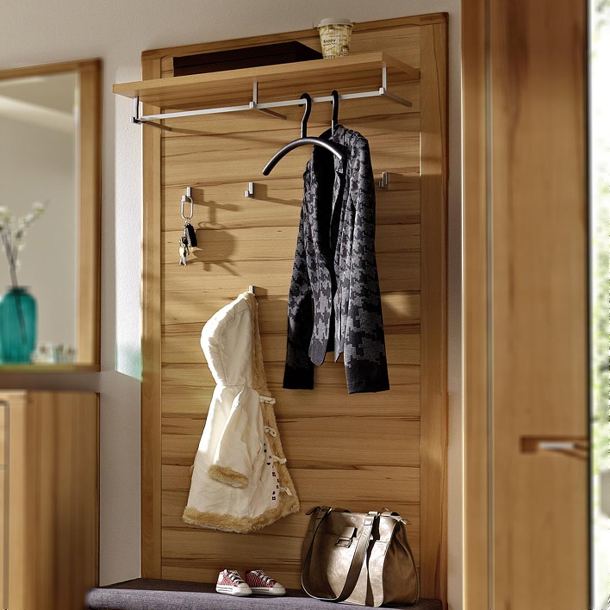 garderobenpaneel nature plus flurm bel garderobe kernbuche massiv neu ebay. Black Bedroom Furniture Sets. Home Design Ideas