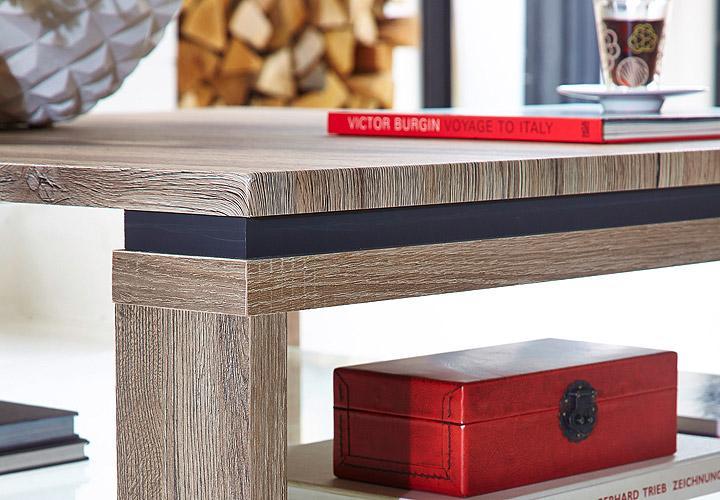 couchtisch spot beistelltisch tisch in san remo eiche und schiefer 90 cm eur 189 95 picclick de. Black Bedroom Furniture Sets. Home Design Ideas
