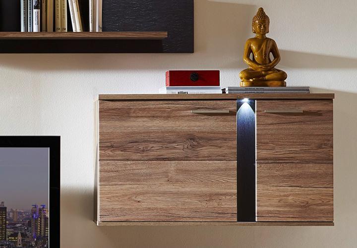 wohnwand spot 2 anbauwand wohnzimmer san remo eiche und. Black Bedroom Furniture Sets. Home Design Ideas