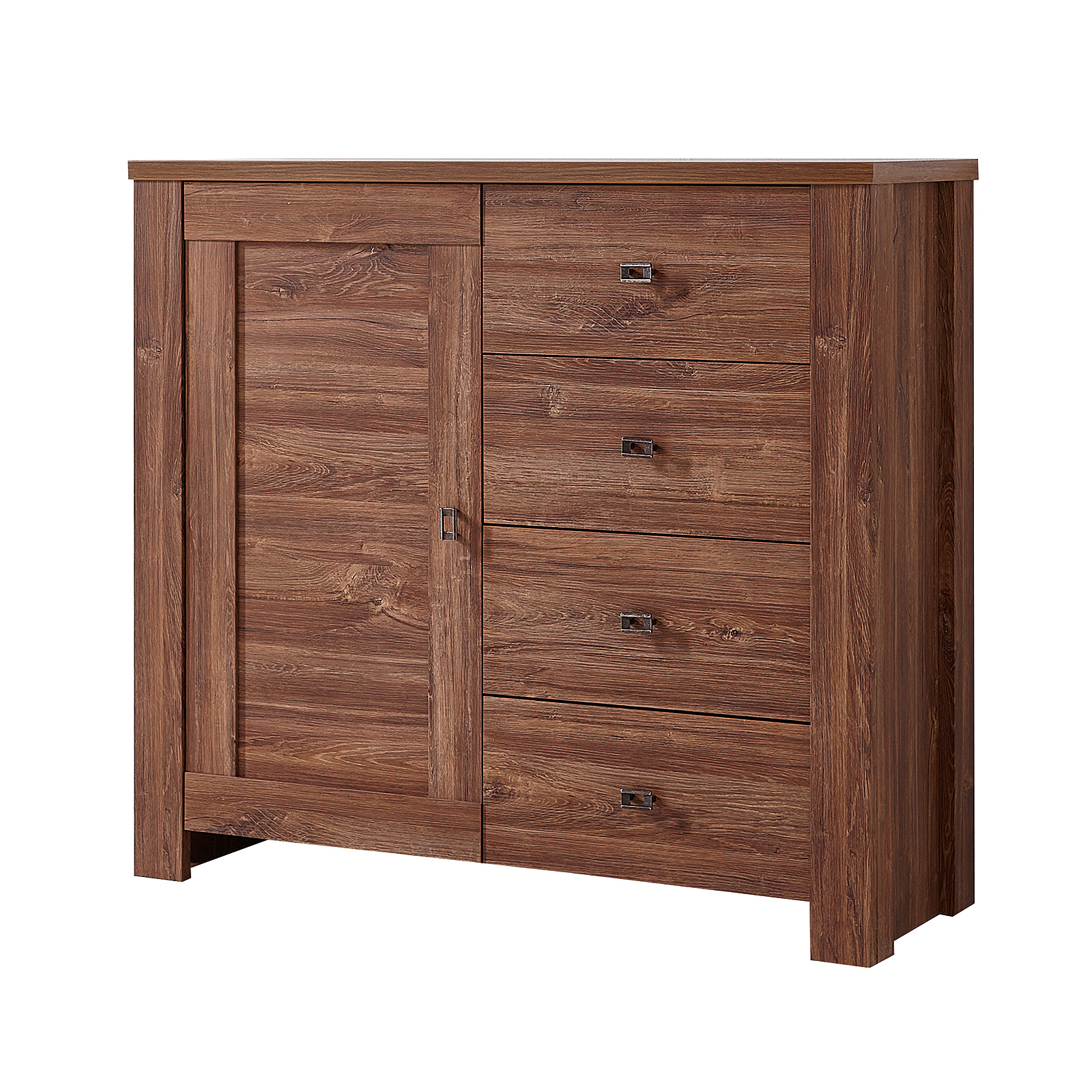 kommode 2 br ssel sideboard anrichte stauraumelement in akazie dunkel ebay. Black Bedroom Furniture Sets. Home Design Ideas