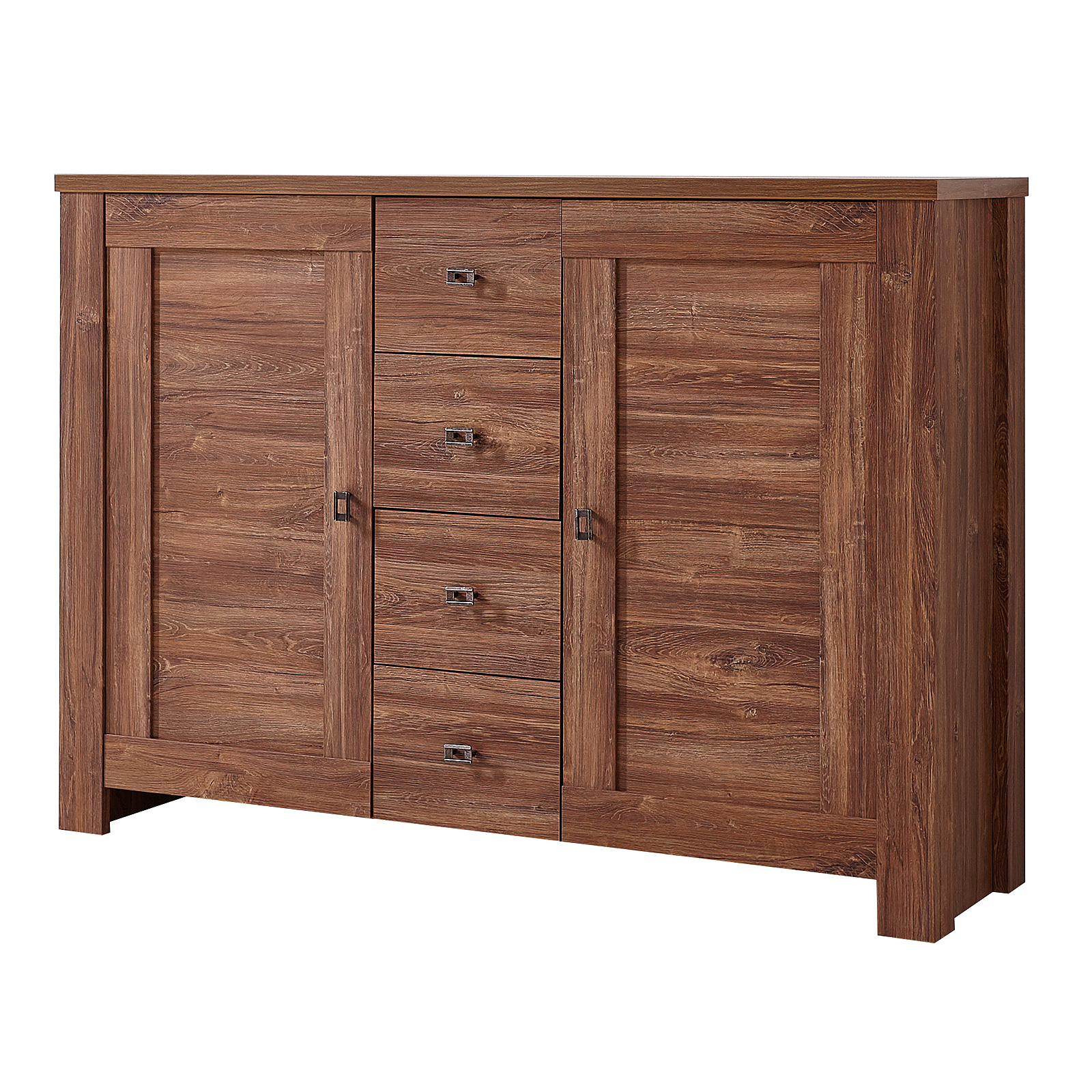 kommode 3 br ssel sideboard anrichte stauraumelement in akazie dunkel ebay. Black Bedroom Furniture Sets. Home Design Ideas