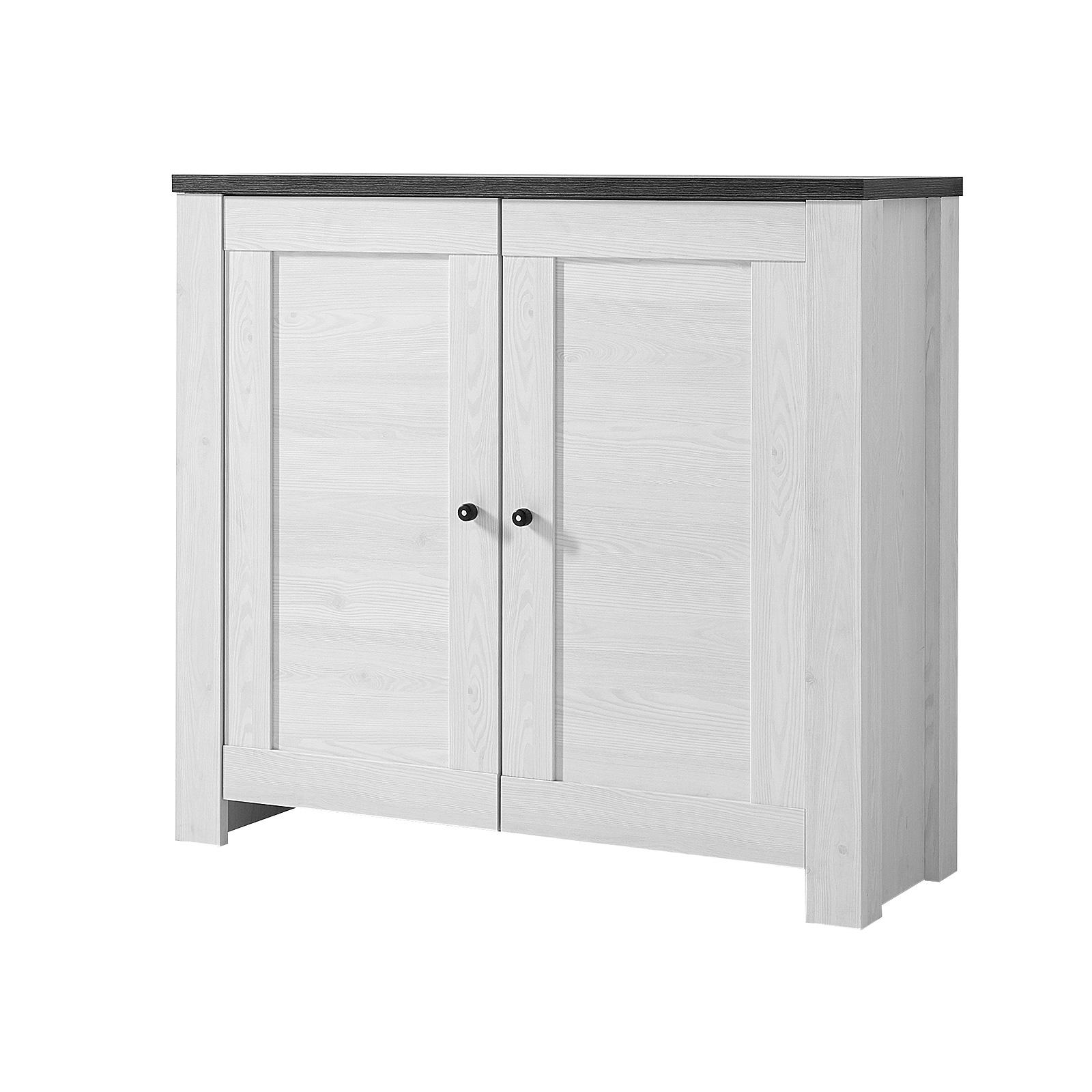 kommode 1 antwerpen sideboard anrichte in l rche und pinie dunkel ebay. Black Bedroom Furniture Sets. Home Design Ideas