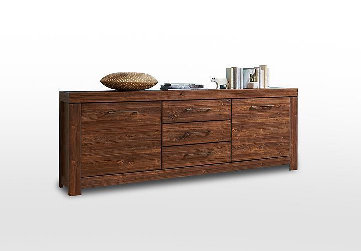 sideboard gent kommode anrichte schrank in akazie dunkel 200 cm eur 289 95 picclick de. Black Bedroom Furniture Sets. Home Design Ideas