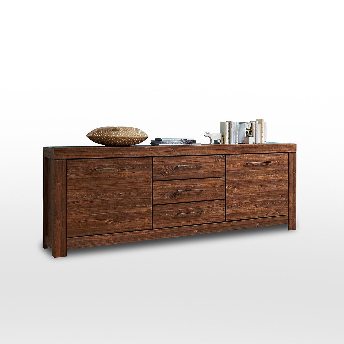 sideboard gent kommode anrichte schrank in akazie dunkel 200 cm ebay. Black Bedroom Furniture Sets. Home Design Ideas