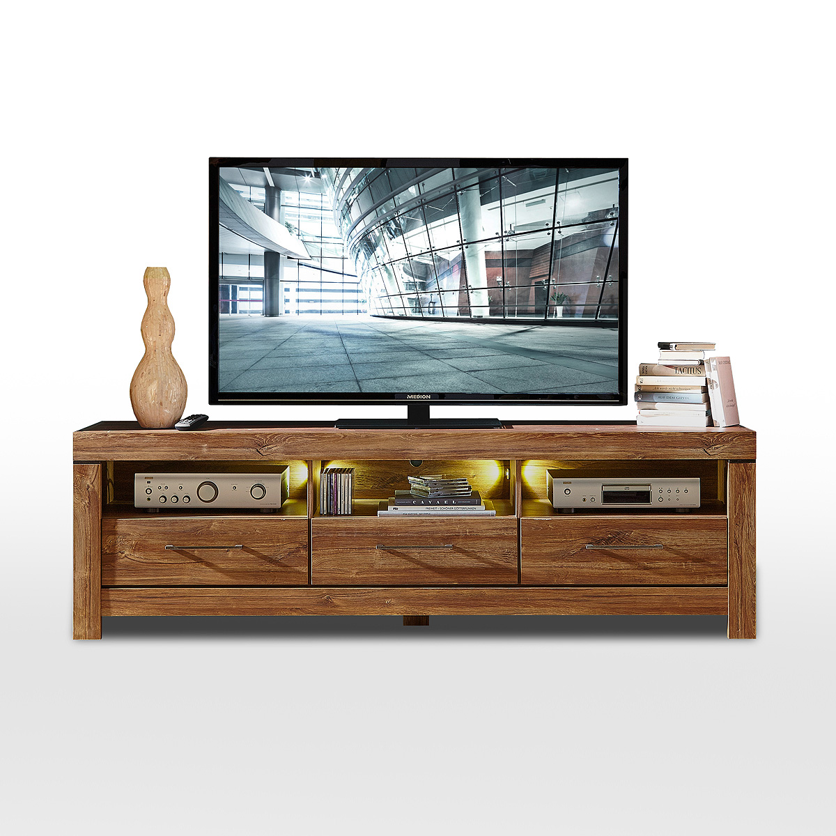 tv board gent lowboard unterschrank fernsehschrank in. Black Bedroom Furniture Sets. Home Design Ideas