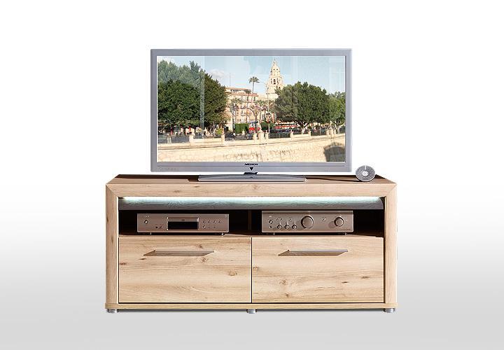 tv board run lowboard unterschrank fernsehschrank in buche hell inkl led ebay. Black Bedroom Furniture Sets. Home Design Ideas