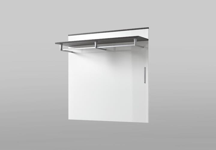 garderobenpaneel reno wandpaneel in wei hochglanz und. Black Bedroom Furniture Sets. Home Design Ideas