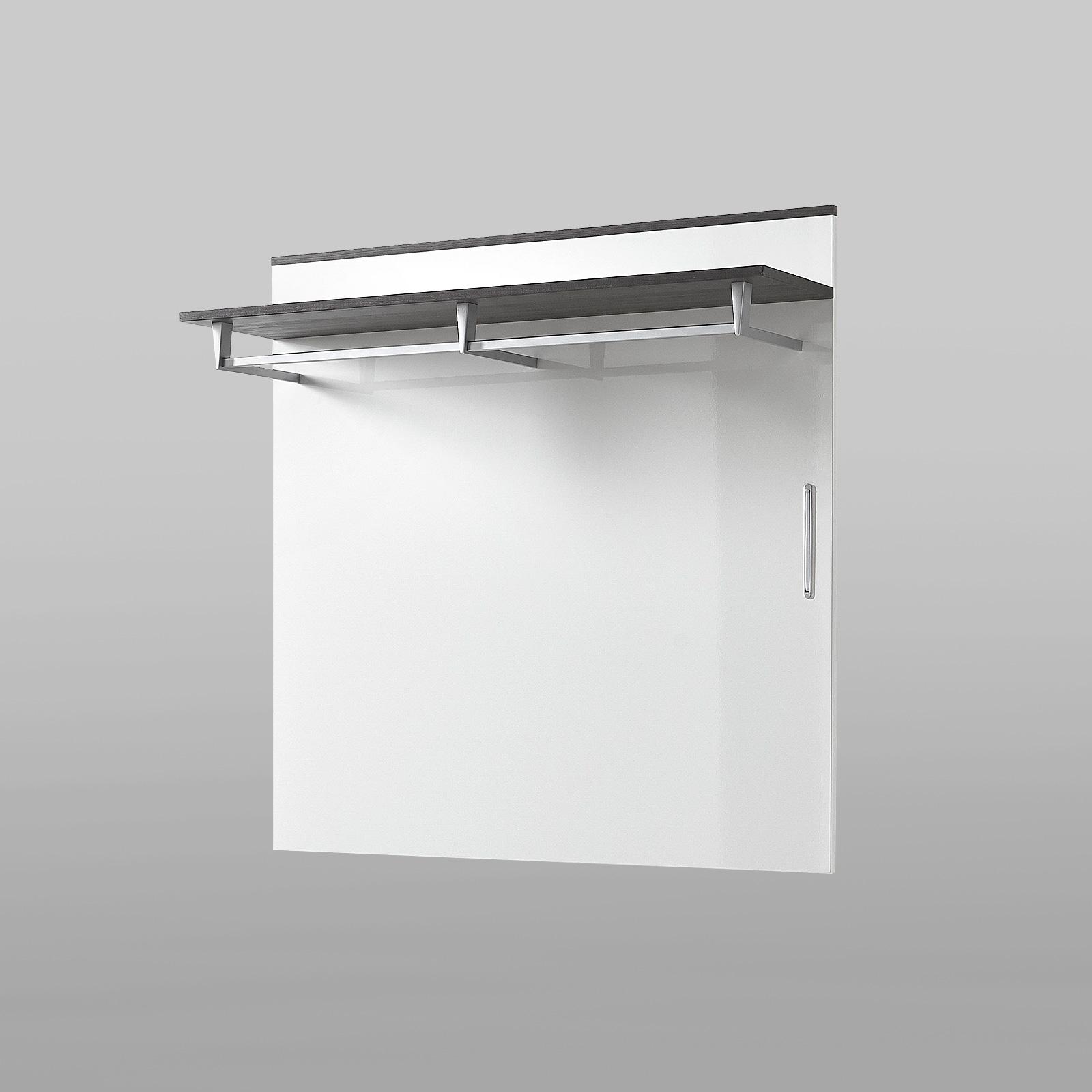 Garderobenpaneel reno wandpaneel in wei hochglanz und for Garderobenpaneel grau