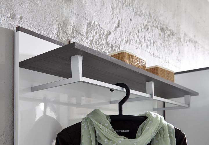 Garderobenset reno garderobe schrank bank spiegel in wei for Garderobe 75 cm breit