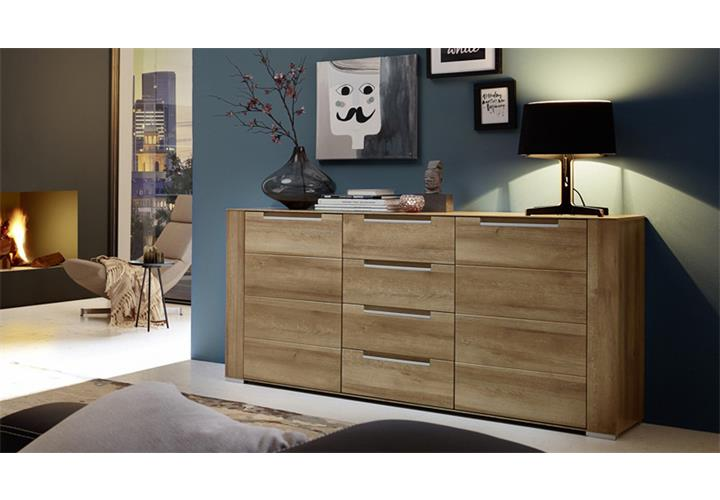 sideboard dinaro kommode anrichte wohnzimmer schrank in eiche hell 170 cm breit eur 387 95. Black Bedroom Furniture Sets. Home Design Ideas