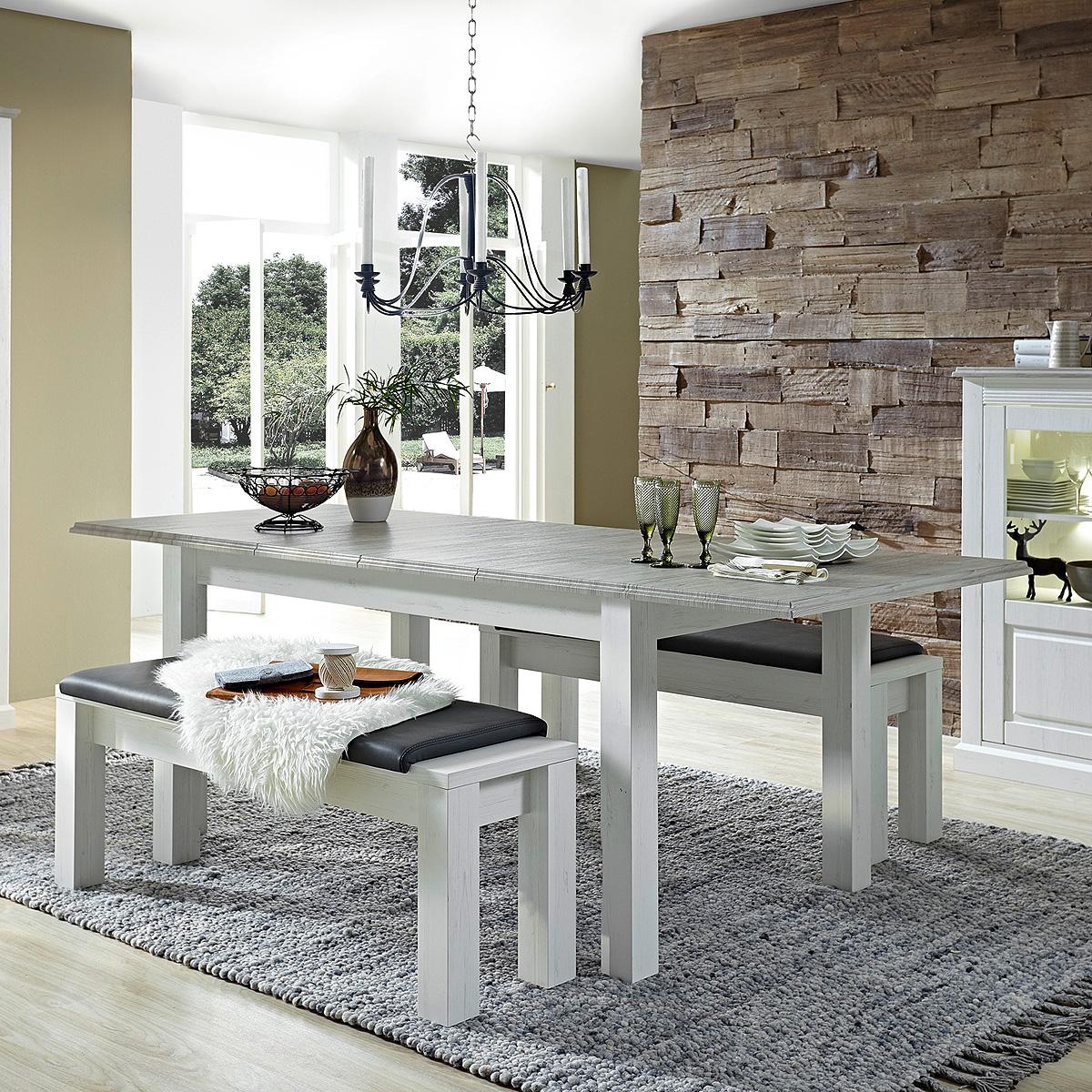 esstisch limas tisch esszimmertisch ausziehbar in pinie. Black Bedroom Furniture Sets. Home Design Ideas