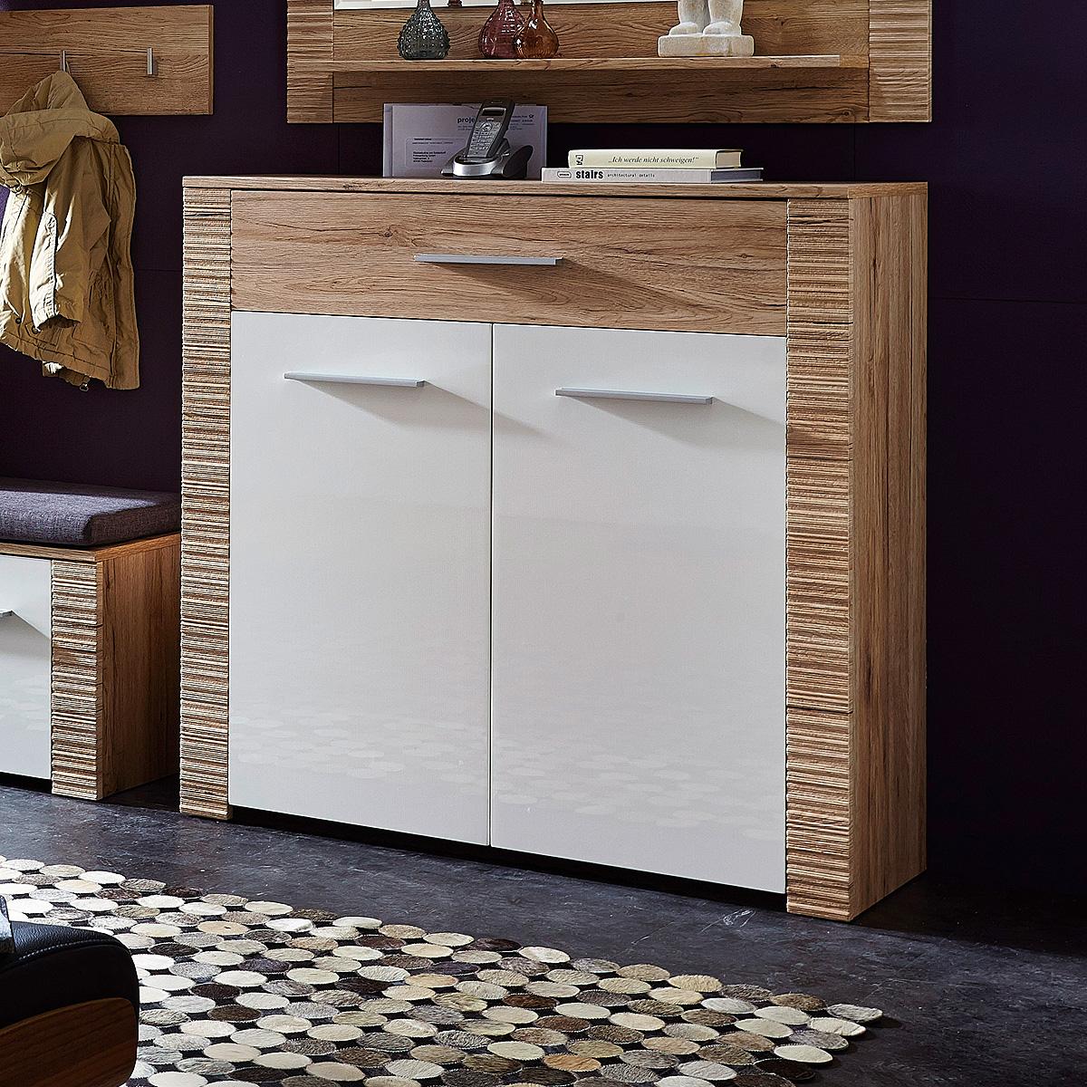 schuhschrank contest x garderobe kommode wei hochglanz. Black Bedroom Furniture Sets. Home Design Ideas