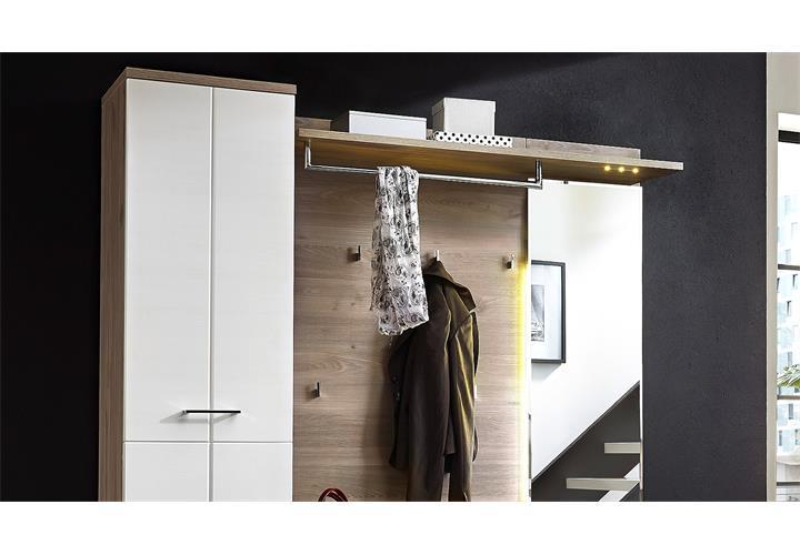 garderobe 4 set plus schuhschrank spiegel flurm bel wei. Black Bedroom Furniture Sets. Home Design Ideas