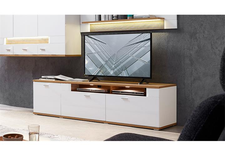 tv board madisons lowboard unterschrank wei hochglanz matt eiche hell led 190 eur 319 95. Black Bedroom Furniture Sets. Home Design Ideas