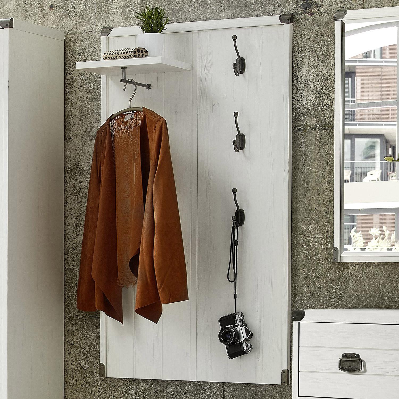 garderobenpaneel buddy paneel wandgarderobe in mdf pinie. Black Bedroom Furniture Sets. Home Design Ideas