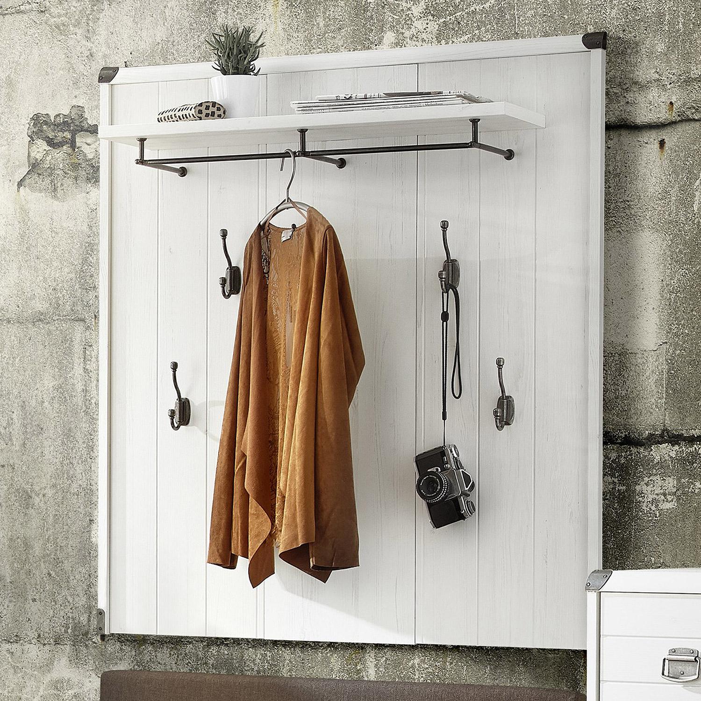 Garderobenpaneel buddy paneel wandgarderobe in mdf pinie for Garderobenpaneel 100 cm breit
