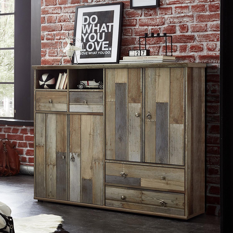 Schuhschrank bonanza kommode regal driftwood b 130 cm ebay for Schuhschrank regal