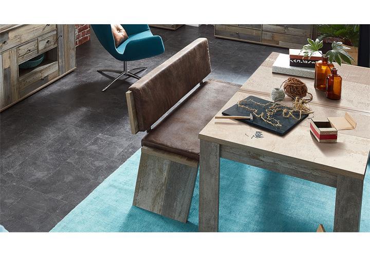 bank bonanza sitzbank mit r ckenlehne driftwood inkl. Black Bedroom Furniture Sets. Home Design Ideas