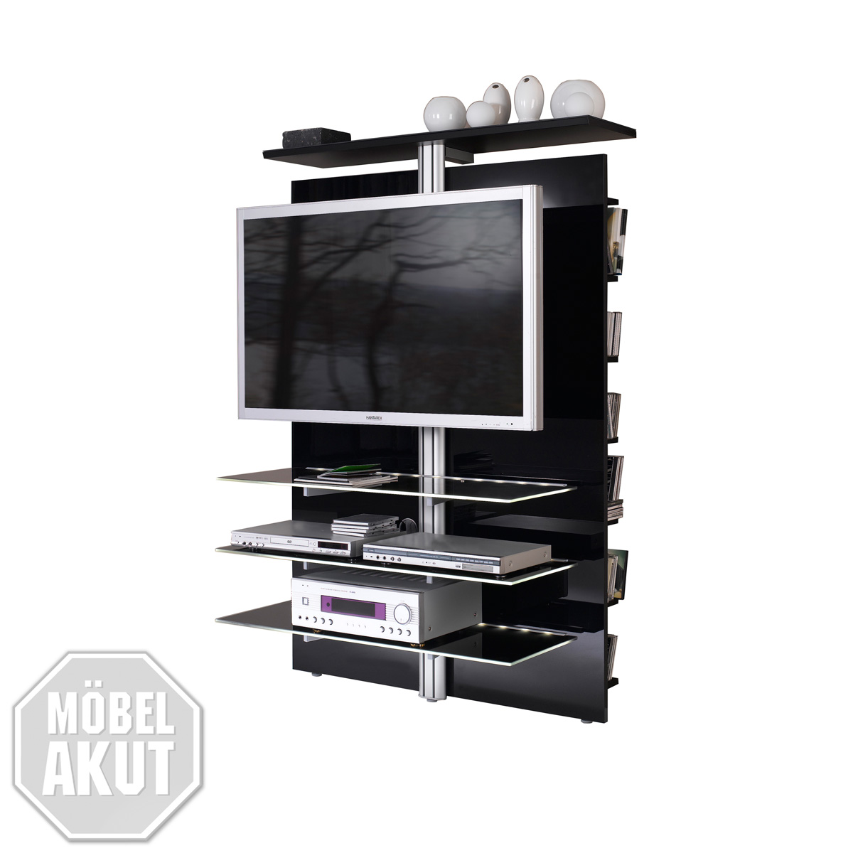 tv wand slc lcd 1900 jahnke media m bel hochglanz in. Black Bedroom Furniture Sets. Home Design Ideas
