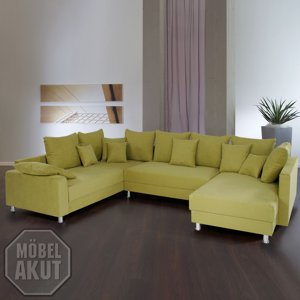 wohnlandschaft max sofa farbe gr n neu ovp ebay. Black Bedroom Furniture Sets. Home Design Ideas