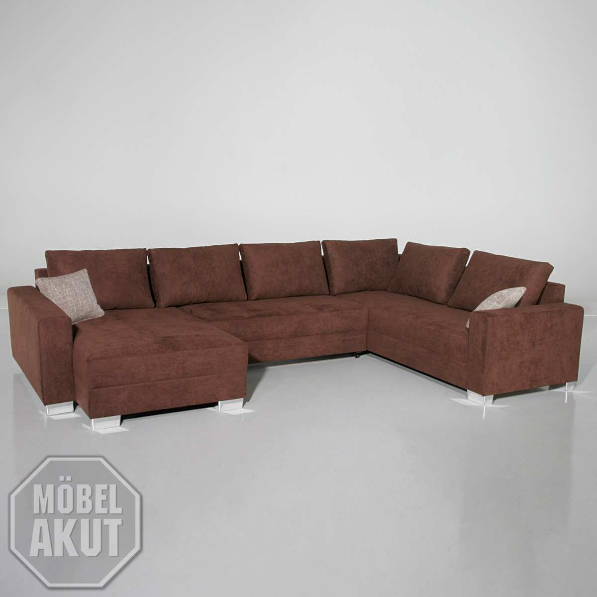 wohnlandschaft moby sofa braun bettfunktion neu ebay. Black Bedroom Furniture Sets. Home Design Ideas