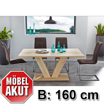 tischgruppe kima para tisch stuhl sonoma eiche antik braun 160 cm ebay. Black Bedroom Furniture Sets. Home Design Ideas