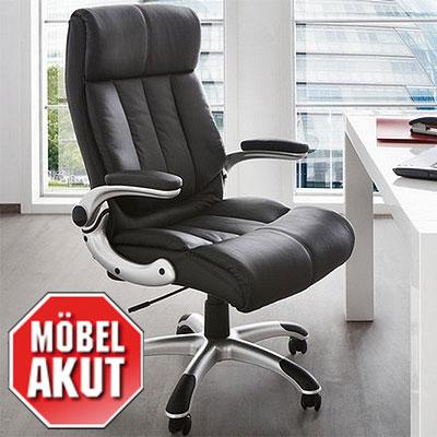 chefsessel flavio drehstuhl b rostuhl schwarz armlehne verstellbar ebay. Black Bedroom Furniture Sets. Home Design Ideas