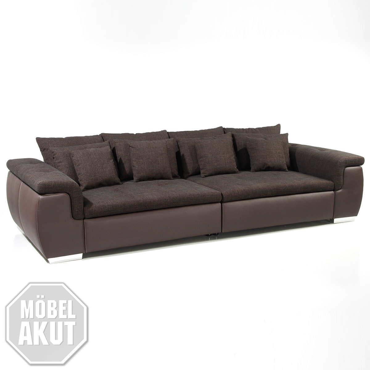 big sofa big point sofa in webstoff braun mit kissen ebay. Black Bedroom Furniture Sets. Home Design Ideas