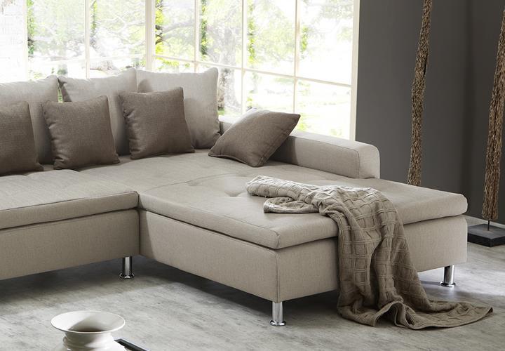 Wohnlandschaft Montego Ecksofa Sofa Couch Mit Ottomane Mit Kissen