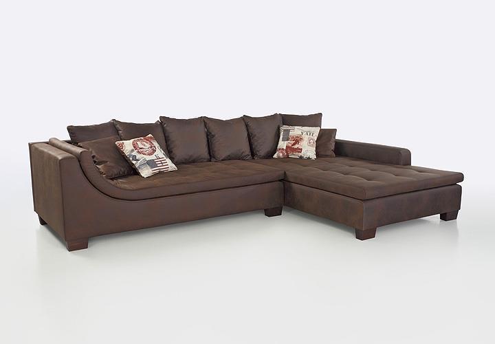 Wohnlandschaft mombasa sofa ecksofa l sofa antik braun for Ecksofa antik