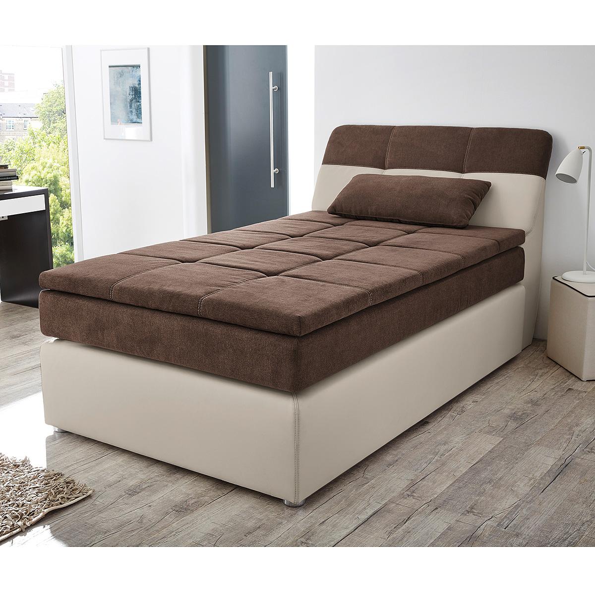 boxspringbett odessa schlafzimmerbett bett in greige braun. Black Bedroom Furniture Sets. Home Design Ideas