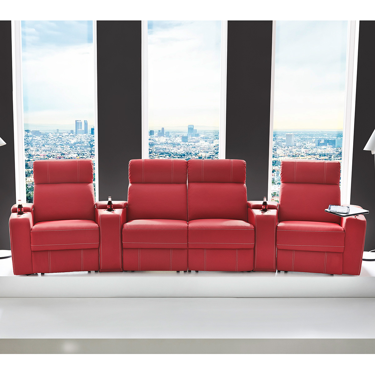cinema sessel hollywood 4er kinosessel kinosofa sofa getr nkehalter farbauswahl ebay. Black Bedroom Furniture Sets. Home Design Ideas