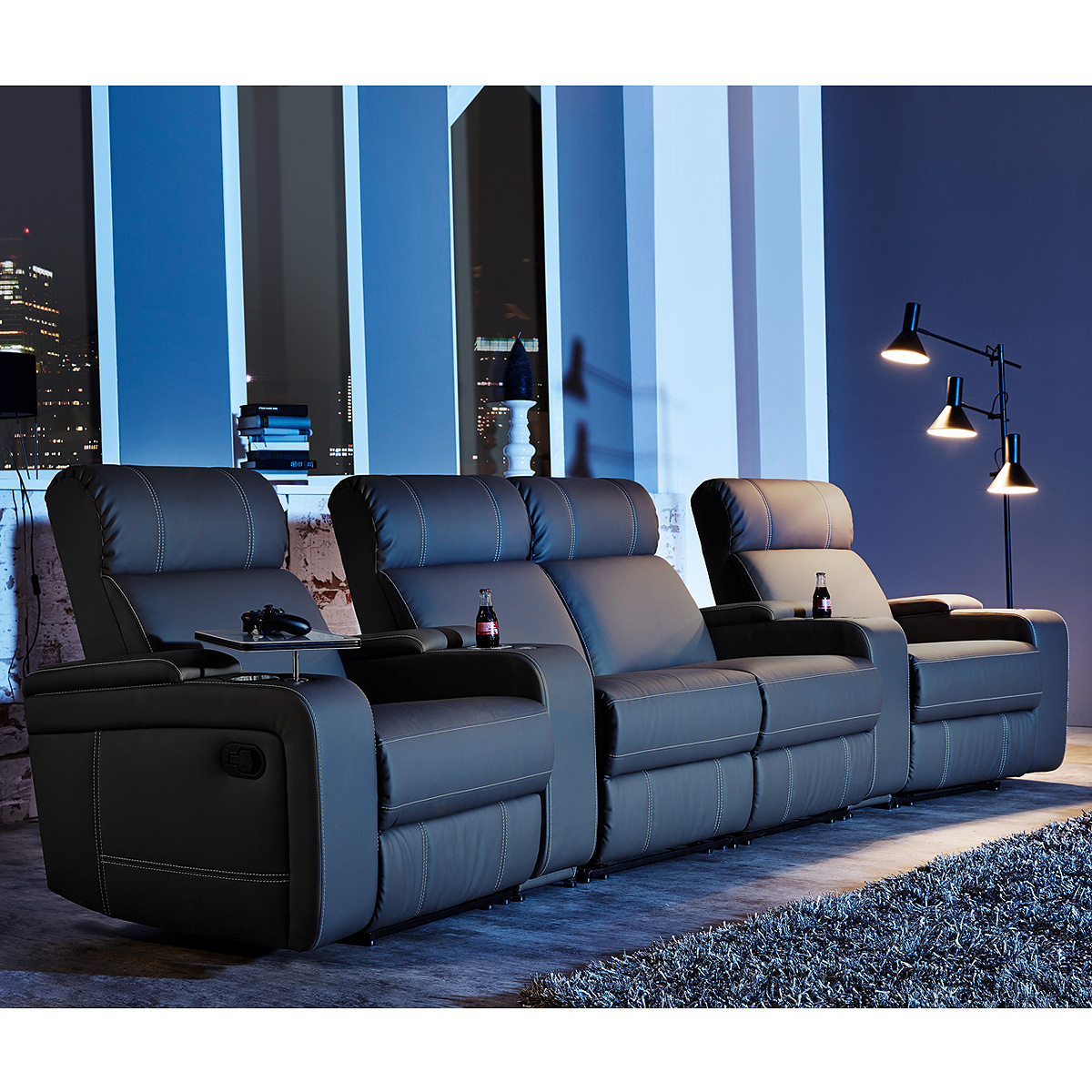 cinema sessel hollywood 4er kinosessel kinosofa sofa. Black Bedroom Furniture Sets. Home Design Ideas