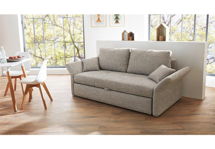 funktionssofa luca sofa f r dauerschl fer in grau mit bettfunktion 140 cm. Black Bedroom Furniture Sets. Home Design Ideas