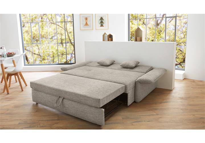 funktionssofa luca sofa f r dauerschl fer in grau mit bettfunktion 140 cm ebay. Black Bedroom Furniture Sets. Home Design Ideas