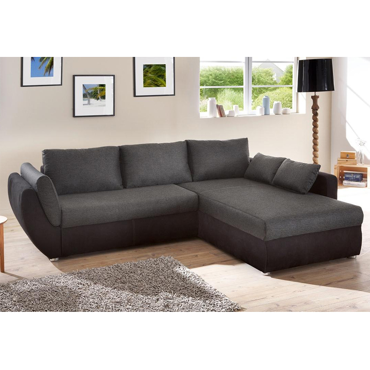 wohnlandschaft taifun sofa ecksofa schwarz grau braun. Black Bedroom Furniture Sets. Home Design Ideas