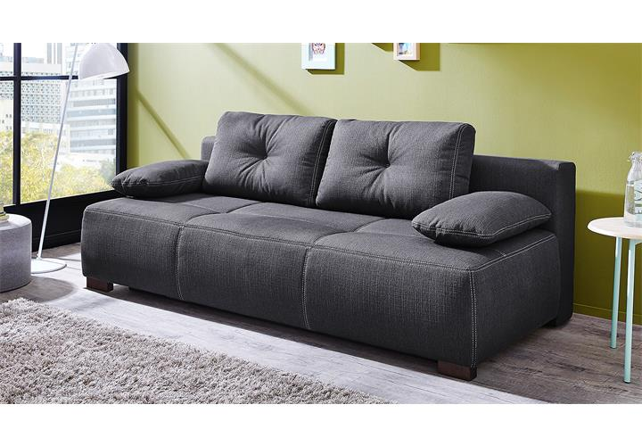 funktionssofa cadiz schlafsofa sofa in dunkelgrau mit. Black Bedroom Furniture Sets. Home Design Ideas