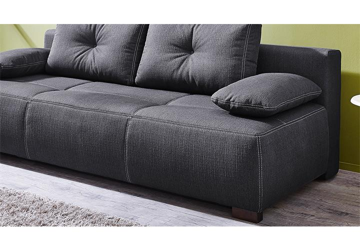 funktionssofa cadiz schlafsofa sofa in dunkelgrau mit bettfunktion ebay. Black Bedroom Furniture Sets. Home Design Ideas