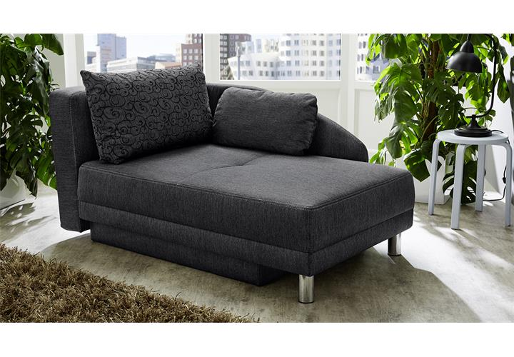 recamiere roy in stoff anthrazit relaxliege schlafsofa mit bettkasten wohnzimmer eur 284 95. Black Bedroom Furniture Sets. Home Design Ideas