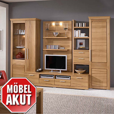 wohnwand remo 1 anbauwand in kern buche furniert. Black Bedroom Furniture Sets. Home Design Ideas