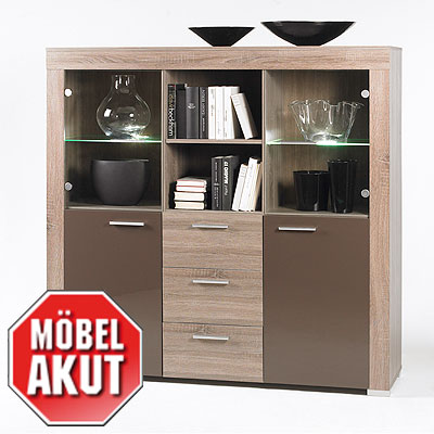 highboard saturn sideboard eiche tr ffel sonoma design ebay. Black Bedroom Furniture Sets. Home Design Ideas