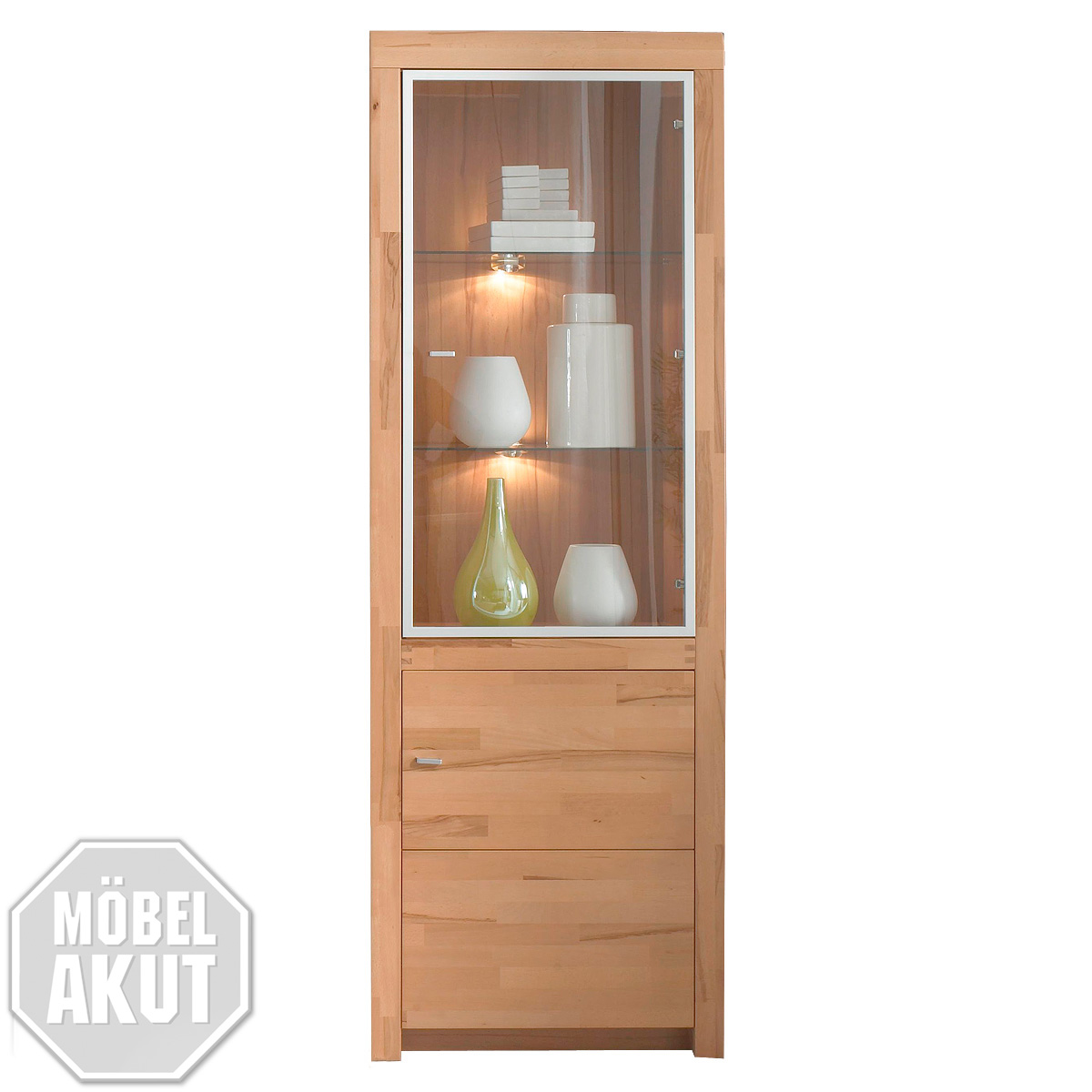vitrine moments kern buche massiv hoch vorr tig ebay. Black Bedroom Furniture Sets. Home Design Ideas