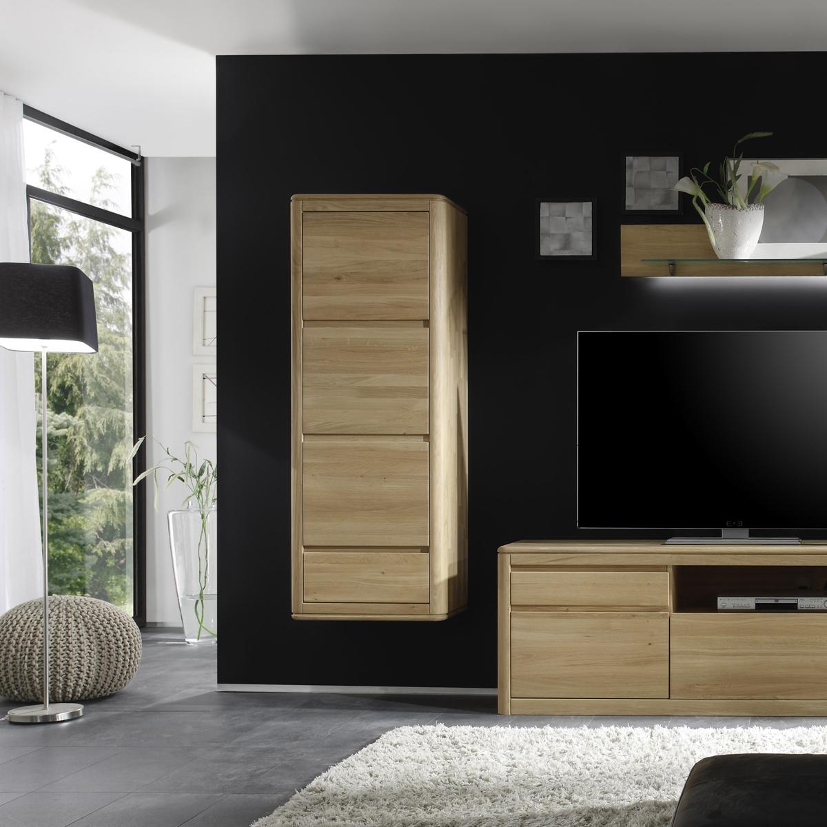 vitrine 1n wohnzimmer h ngeschrank eiche bianco massiv 1. Black Bedroom Furniture Sets. Home Design Ideas