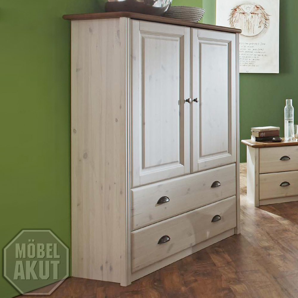 w scheschrank ole kleiderschrank schrank in kiefer massiv wei braun neu ebay. Black Bedroom Furniture Sets. Home Design Ideas