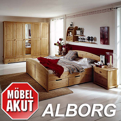 schlafzimmer set alborg lmie h lsta tochter massiv ebay. Black Bedroom Furniture Sets. Home Design Ideas