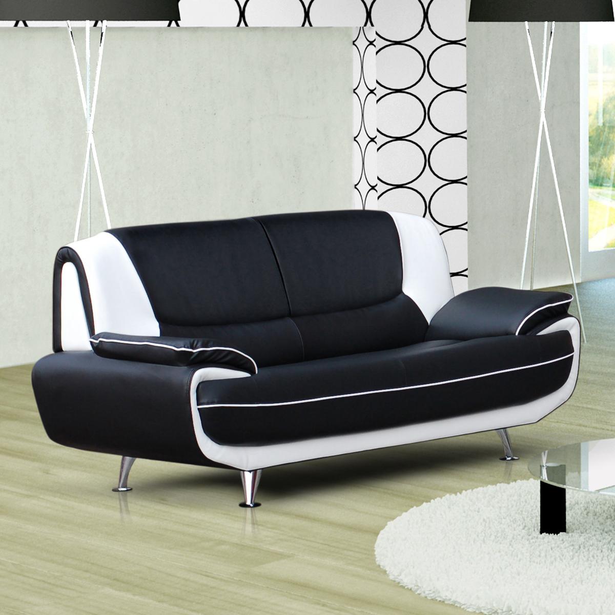 sofa couch ecksofa palermo wohnzimmer designer eckcouch schwarz wei ebay. Black Bedroom Furniture Sets. Home Design Ideas